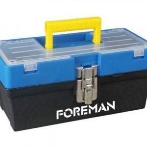 Caja de herramientas de plástico con broche de metal 13″