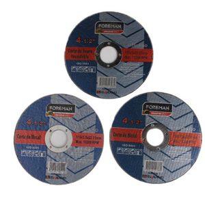 Disco de corte de acero inóx 41/2″ (115X1.0mm)