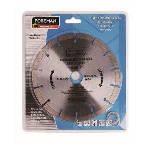 Discos diamantado segmentado para corte seco 7″ (180mm)
