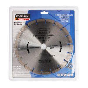 Discos diamantado segmentado para corte seco 9″ (230mm)