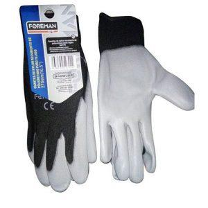 Guantes de nylon recubierto de poliuretano puño tejido 270mm (10,5″)